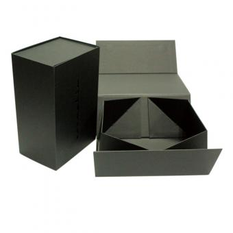 large matte black folding packaging box