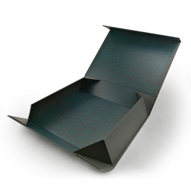 Classy Black Flat Packed Save Space Packing Boxes
