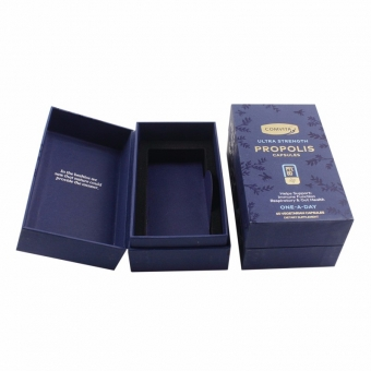 Specialty black paper with foil stamping book shape clamshell box