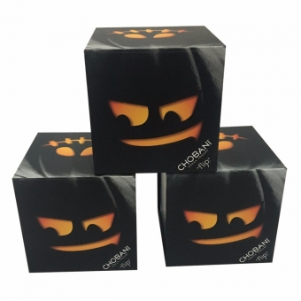 Custom halloween pumpkin collapsible cardboard box with lid