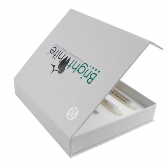Skincare Classic White Book Shaped Magnetic Box