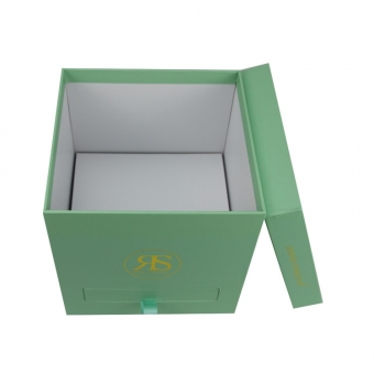 blue gift box with small drawer