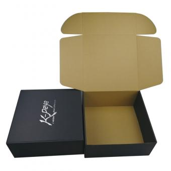 Custom silver foil stamping large postal shipping mailer box