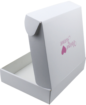white 3 ply corrugated box