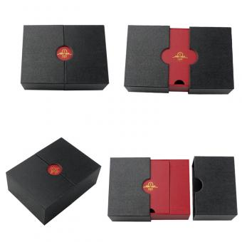 Special Window Design Unique Black Match Red Gifts Box